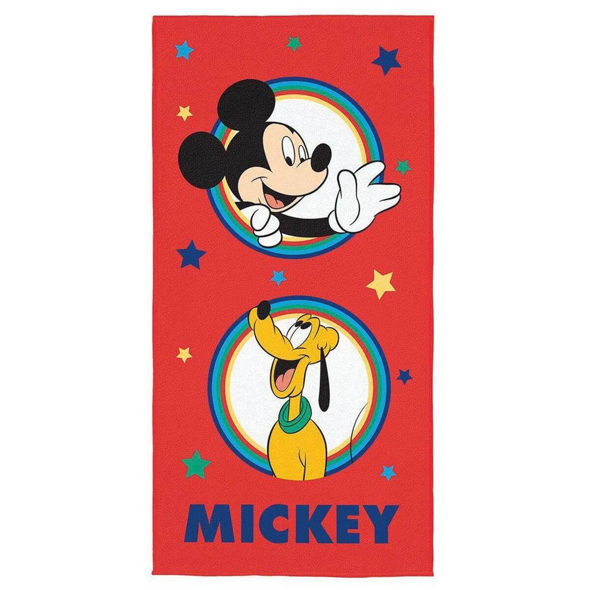 Toalha de Praia Infantil Aveludada Mickey