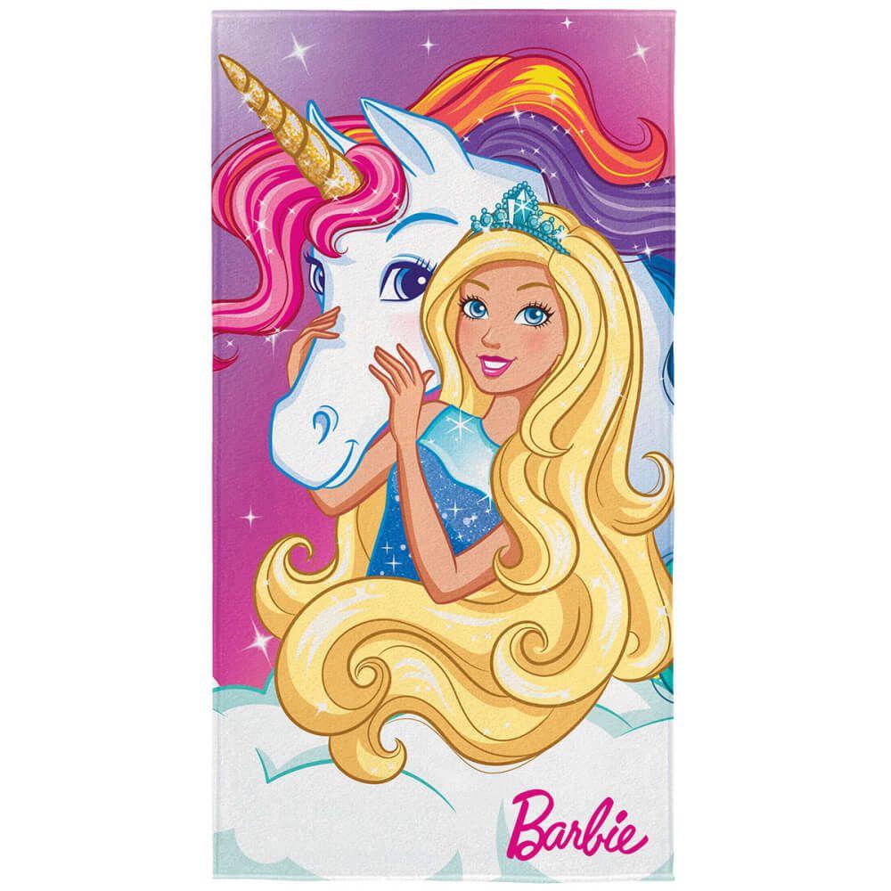 Toalha de Praia Infantil Barbie Reinos Mágicos