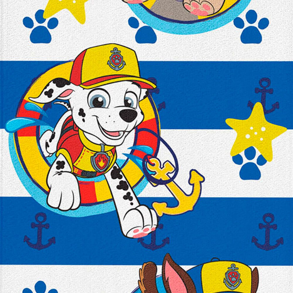 Toalha de Praia Infantil Patrulha Canina