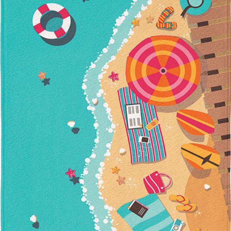Toalha de Praia Aveludada Vista
