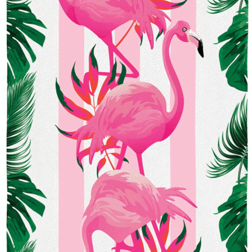 Toalha de Praia Paradise Flamingo
