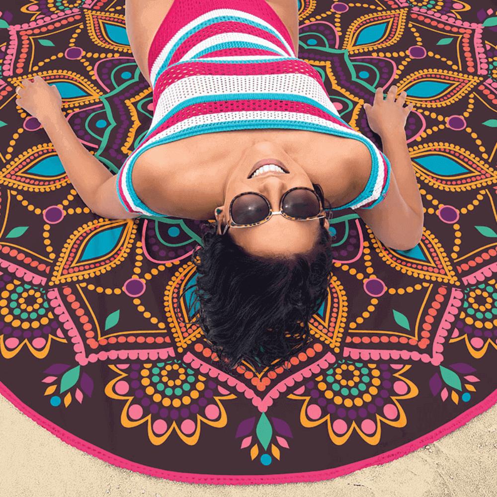 Toalha de Praia Redonda Mandala