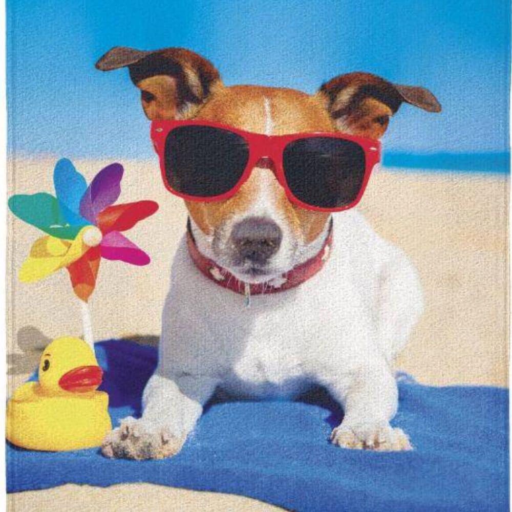 Toalha de Praia Summer Dog Surf