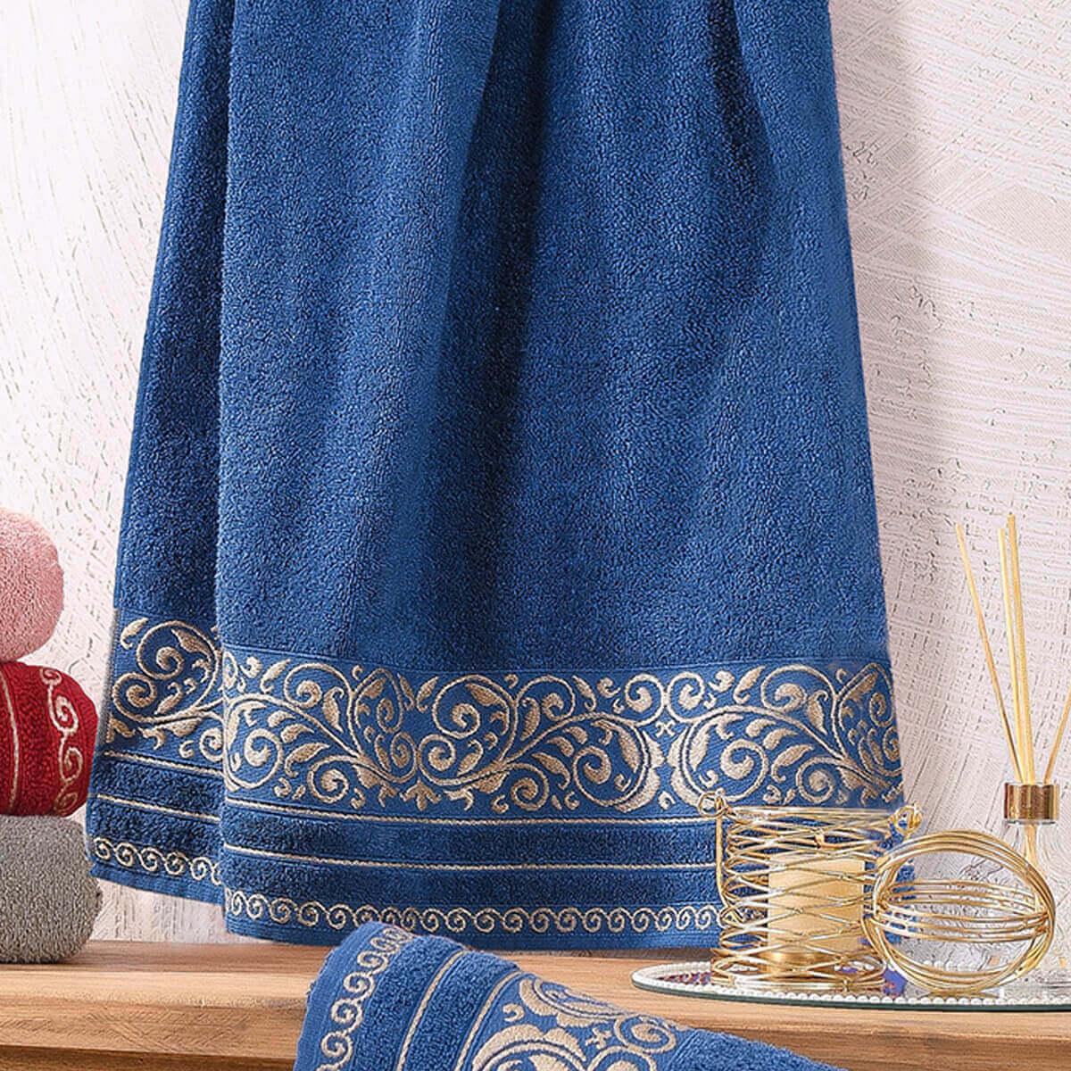 Toalha de Rosto Felpuda Passione Azul