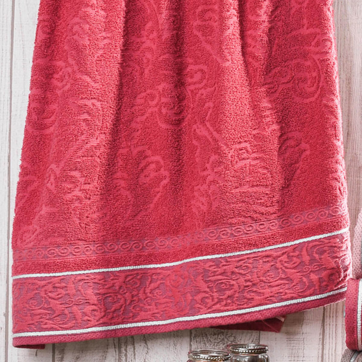 Toalha de Rosto Felpuda Verona Vermelha
