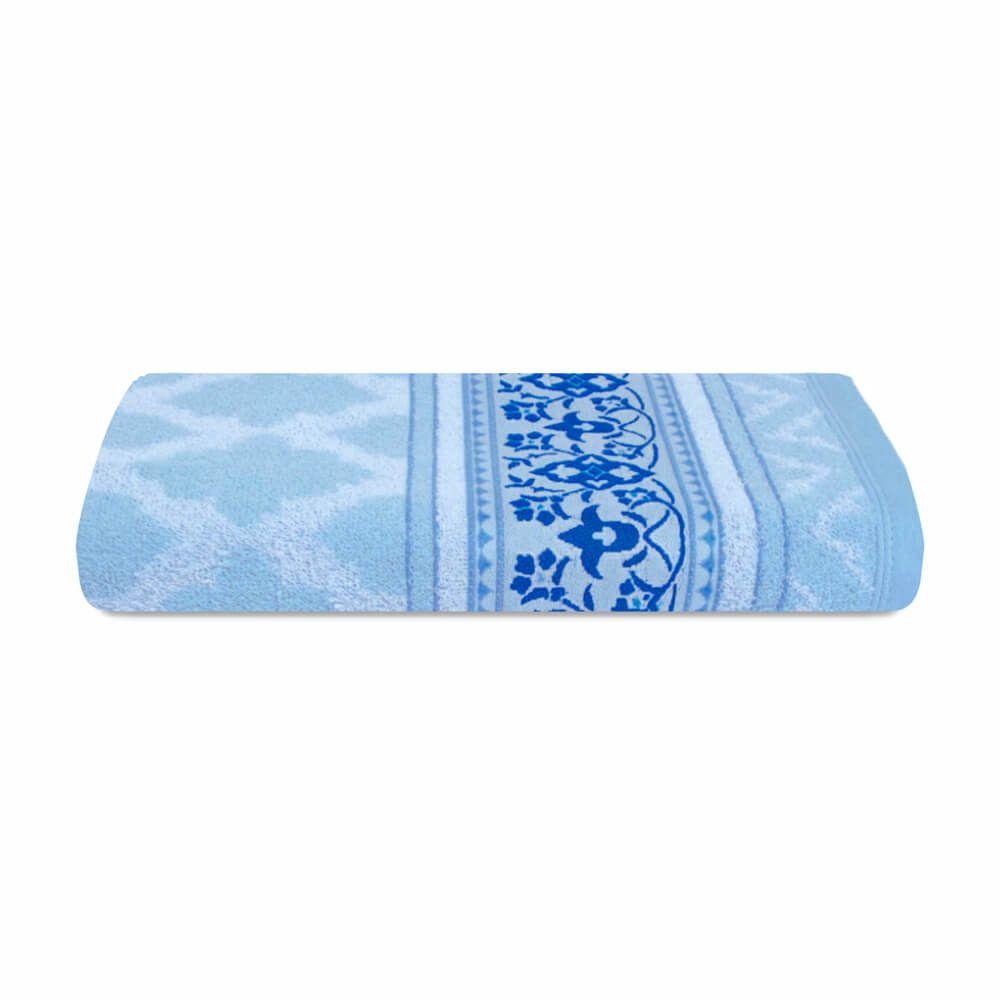Toalha de Rosto Prata Lilla Azul