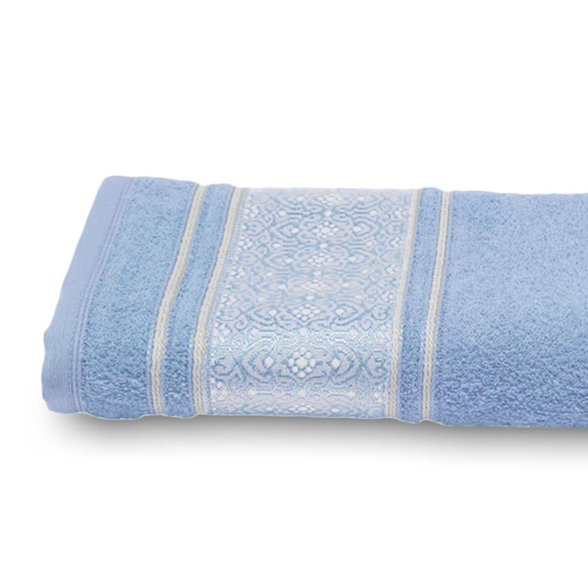 Toalha de Rosto Prata Natalie Azul