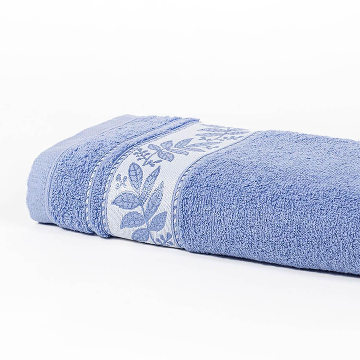 Toalha de Rosto Prata Relva Azul