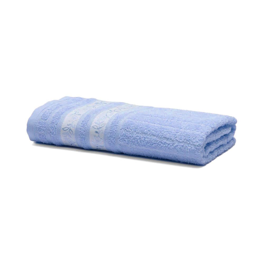 Toalha de Rosto Prata Letícia Azul