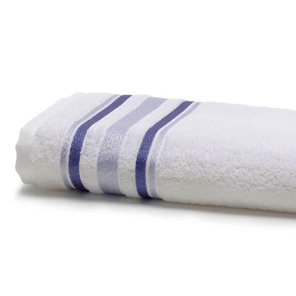 Toalha de Rosto Prata Serena Branca