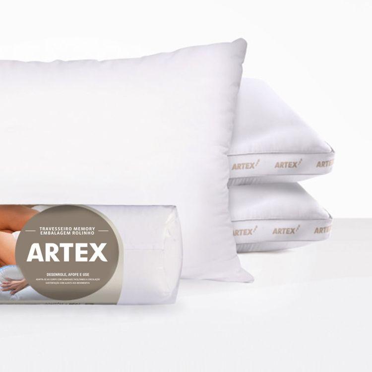 Travesseiro Artex Memory 300 fios 44cm x 64cm