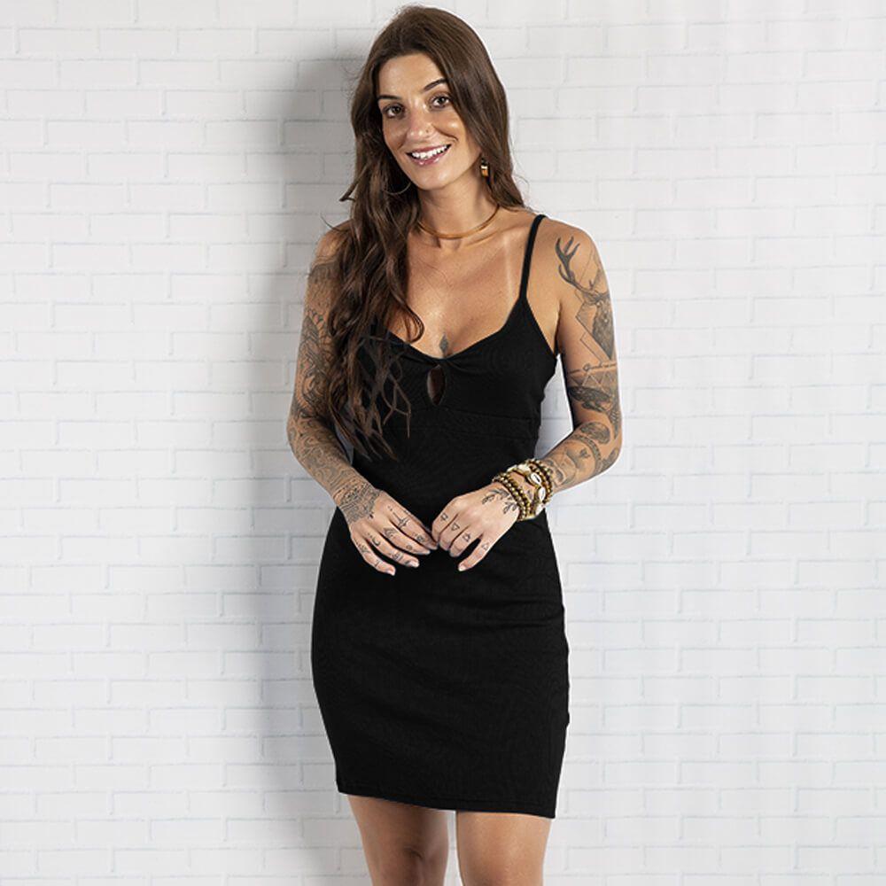 Vestido Feminino Alça Madri Preto