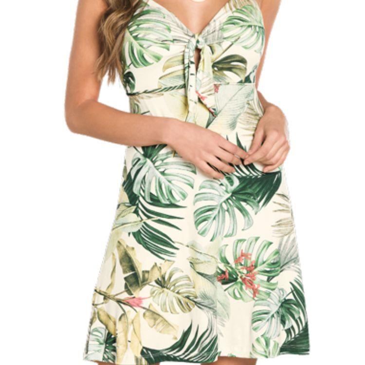 Vestido Feminino Folhas