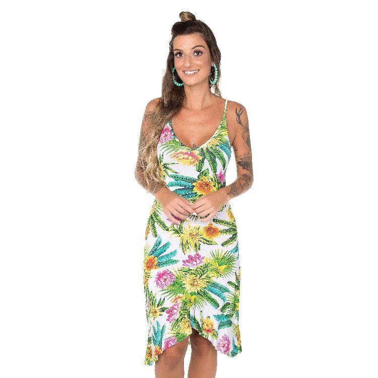 e1d0ca9eb Vestido Feminino Regata Tropical Flower