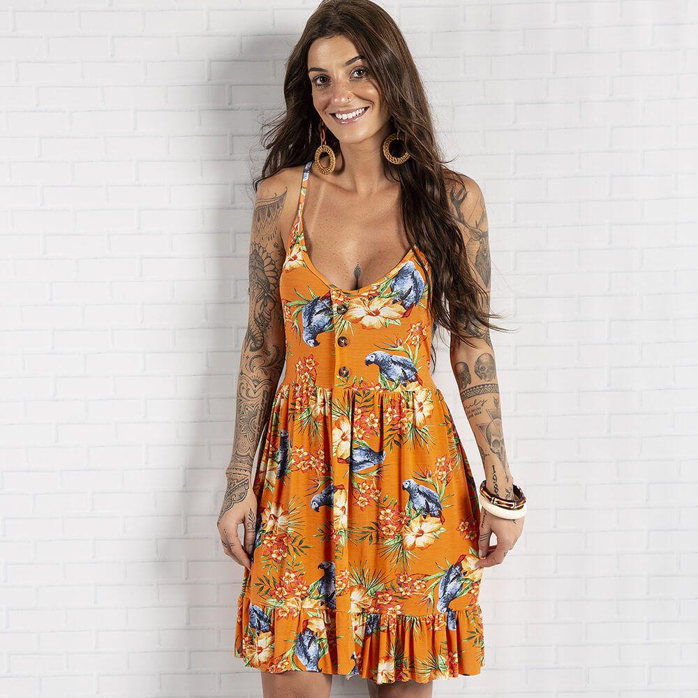 Vestido Feminino Tropical Alça