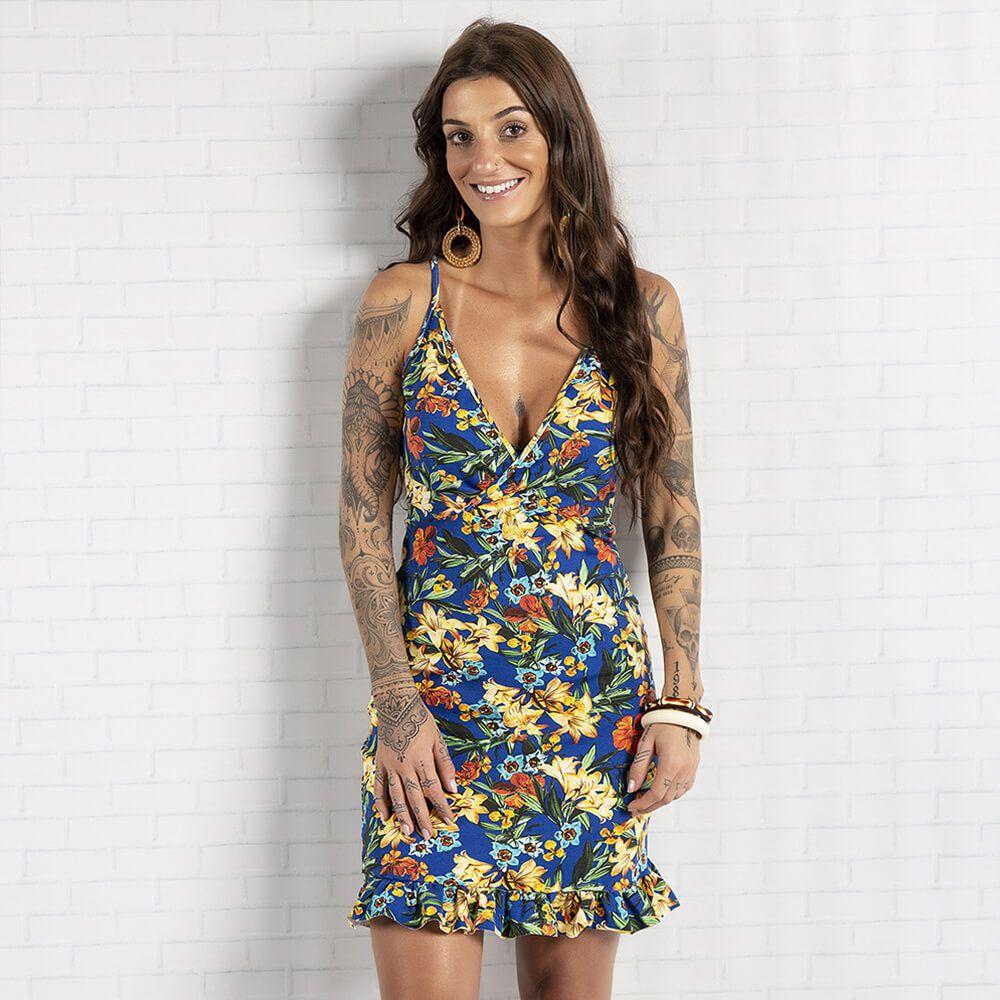 Vestido Feminino Tropical Babados