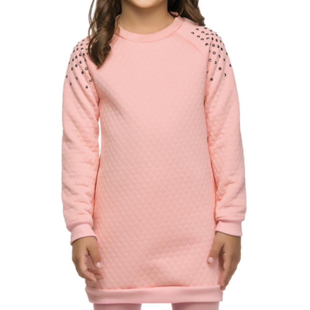Vestido Infantil Matelassê Rosa