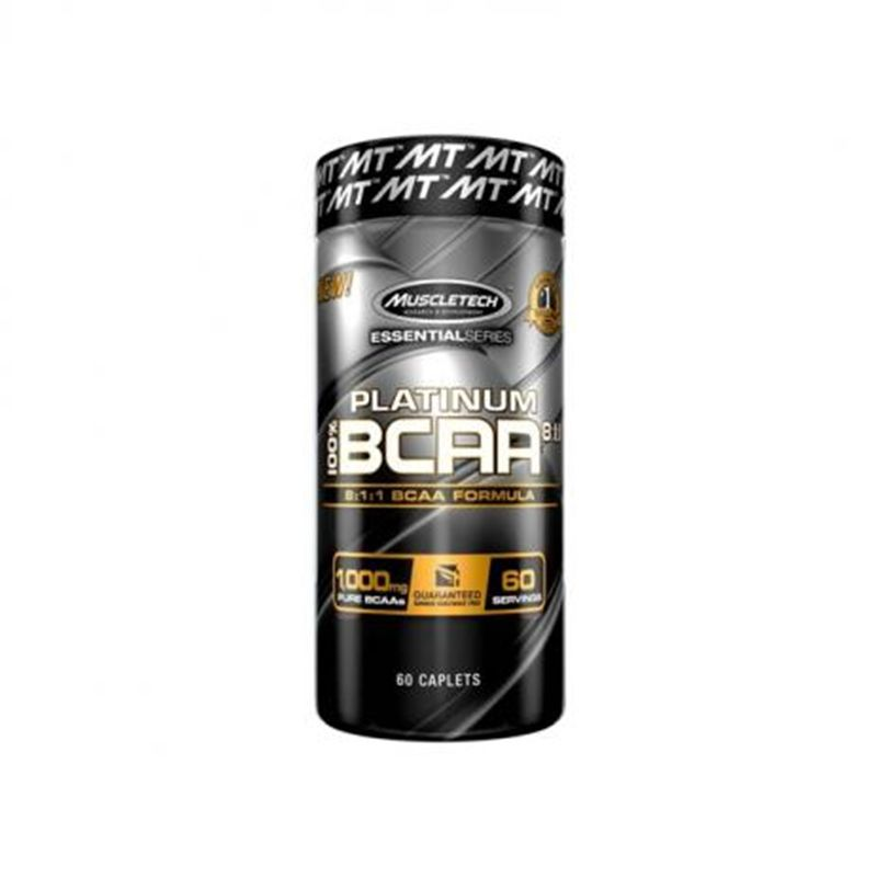 100% BCAA Platinum 8:1:1 60 Tabs. - Muscletech