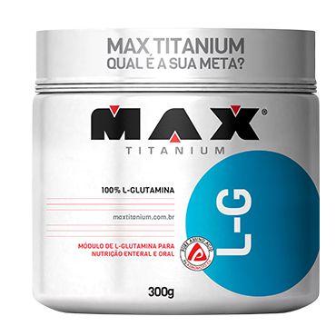 100% L-Glutamina 300g - Max Titanium