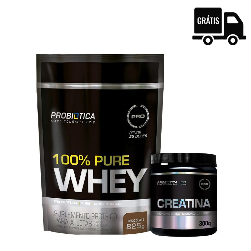 100% Pure Whey 825g + Creatine 300g - Probiotica