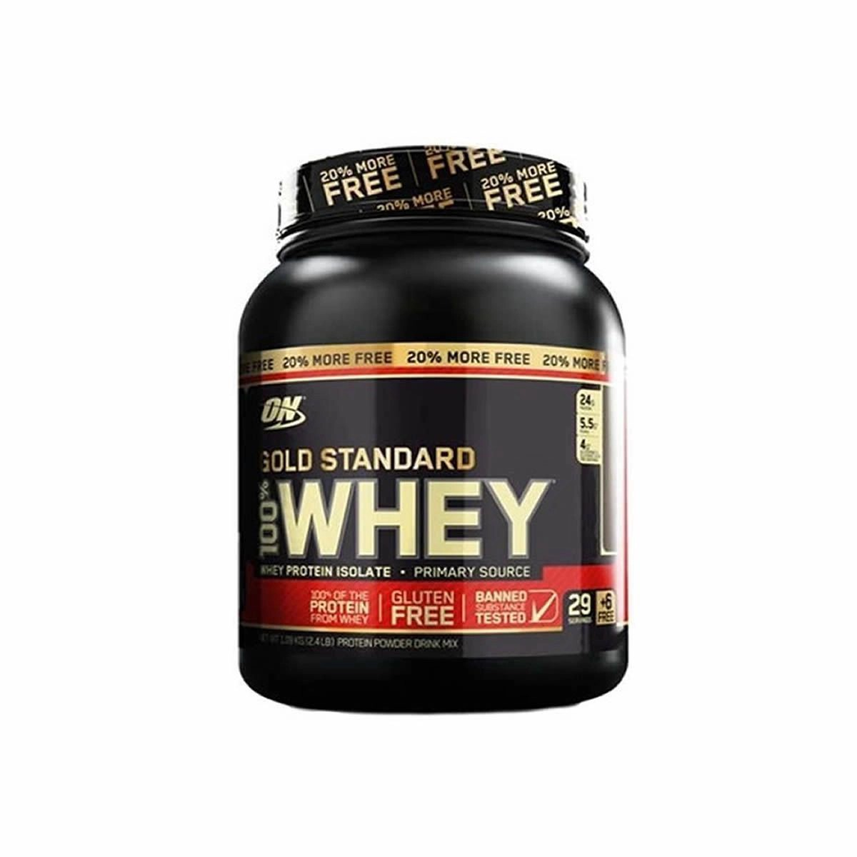 100% Whey Gold Standard 2.4Lbs (1,09Kg) - Optimum Nutrition (Sabor Baunilha)