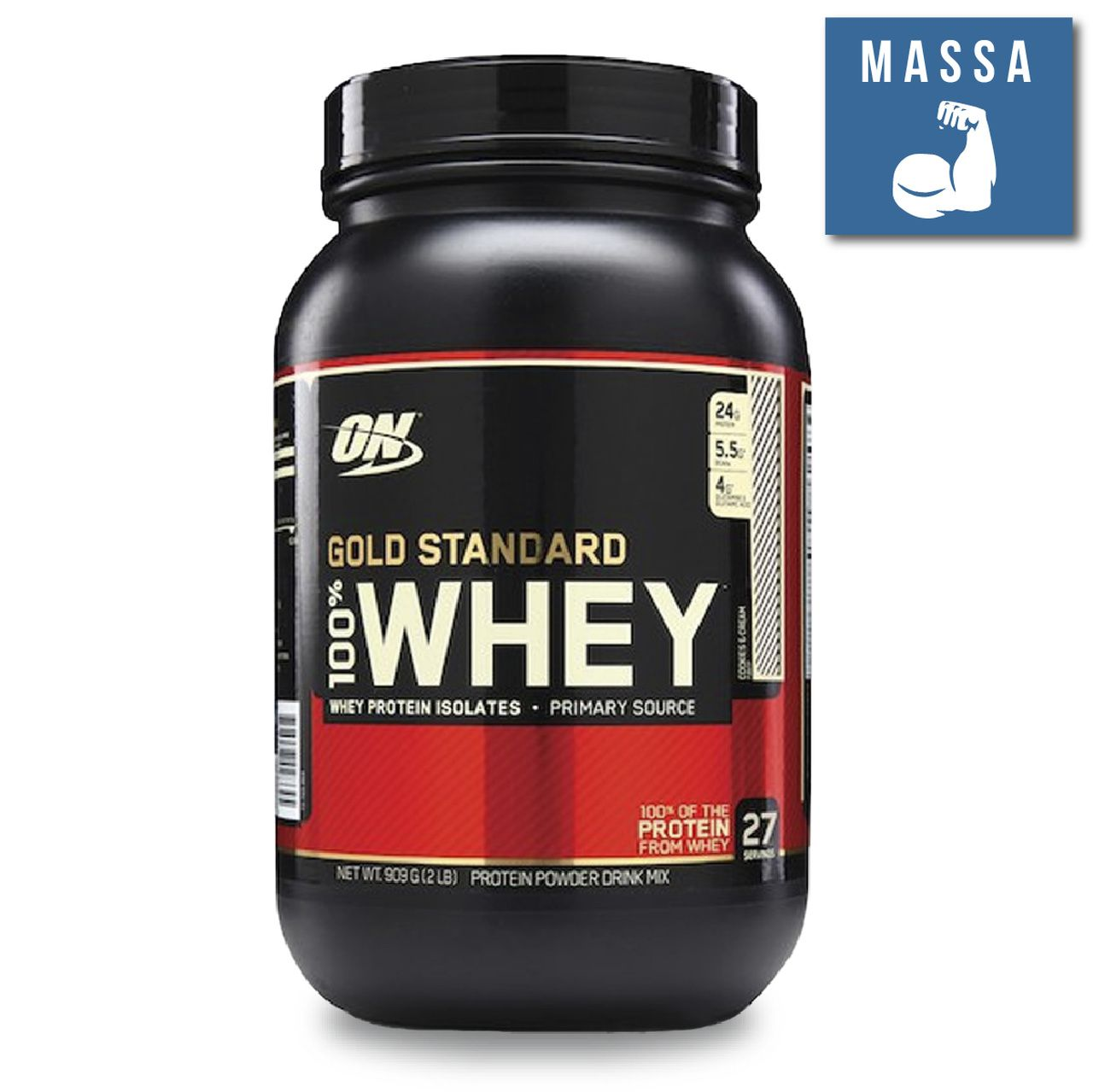 100% Whey Gold Standard 2lbs / 900g - Optimum Nutrition