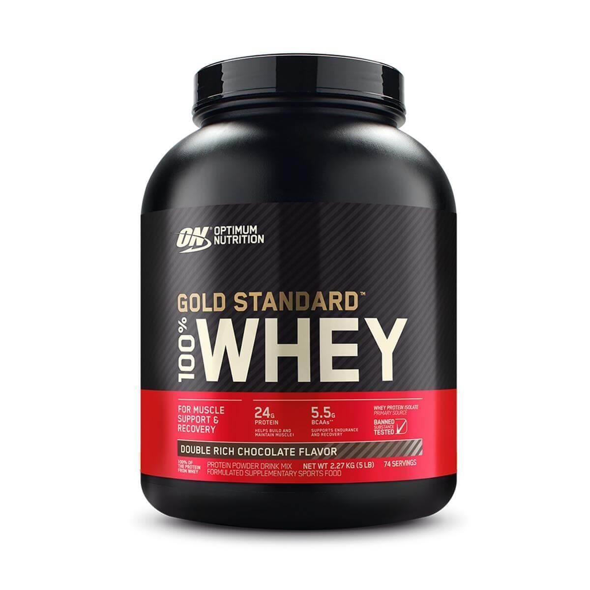 100% Whey Gold Standard 5lbs (2,27Kg) - Optimum Nutrition