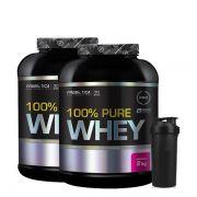 2x 100% Pure Whey 2Kg + Coqueteleira