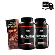2x Glutamine 300g Black Line + Wafer Protein Mini