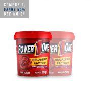 2x Pasta Brigadeiro Proteico 500g - Power1One