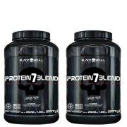 2x Protein 7 Blend 837g - Black Skull