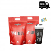 2x Super Whey 100% Pure 907g (1,81Kg Total) + Brindes