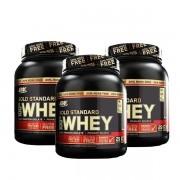 3x 100% Whey Gold Standard 2.4lbs (1,09kg) - Optimum Nutrition