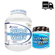 KIT: Puro Whey 2Kg + Glutamina 300g