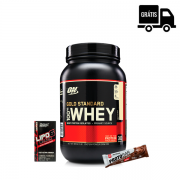 KIT: Whey Gold 909g + Lipo  6 Black 120 Caps. + Protobar