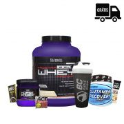 KIT: 100% PROSTAR Whey + Horse Power 225g + Glutamine 300g + Brindes