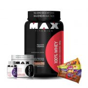 KIT: 100% Whey 900g + BCAA 2400 60 Caps. + Creatina 150g + 4x Uau! Protein Bar