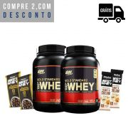 KIT: 2x 100% Whey Gold 900g + 2x Brindes