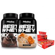 KIT: 2x Best Whey 900g + Protein Crisp Bar 12 Uni.
