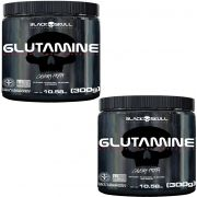 Kit: 2x Glutamine 300g (Caveira Preta) – Black Skull