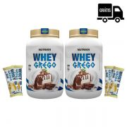KIT: 2x Whey Grego 900g + 4x Barrinhas