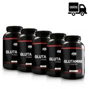 KIT: 5 GLUTAMINAS 300G (BLACK LINE) - OPTIMUM NUTRITION