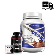 KIT: ADAPTO WHEY 900G - ADAPTOGEN + GLUTAMINA 300G (BLACK LINE) - OPTIMUM NUTRITION + CREATINA 100G - MAX TITANIUM