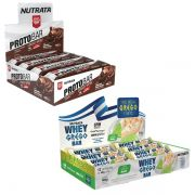 KIT BARRINHAS: Whey Grego Bar 12 Uni. + Protobar 8 Uni.