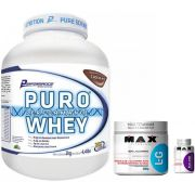 KIT BC: Puro Whey 2Kg + L-Glutamine 300g + BCAA 2400 60 Caps.