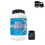 KIT: Bio Whey 900g + Creatine 100% Pure 100g