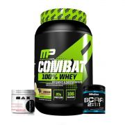 KIT: Combat 100% Whey 907g + BCAA 2:1:1 210g + Creatina 150g