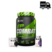 KIT: Combat 900g + Creatina 150g + BCAA 2400 100 Caps.