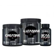 KIT: Creatina 150g + Glutamina 300g + BCA 2400 100 Tabs.