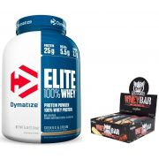 KIT: Elite 100% Whey 5lbs + Whey Bar Darkness 8 Unid.